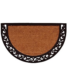 Home & More Ornate Scroll Coir/Rubber Doormat