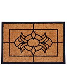 """Viola 24"""" x 36"""" Coir/Rubber Doormat"""