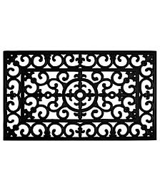 """Fleur De Lis 24"""" x 36"""" Rubber Doormat"""