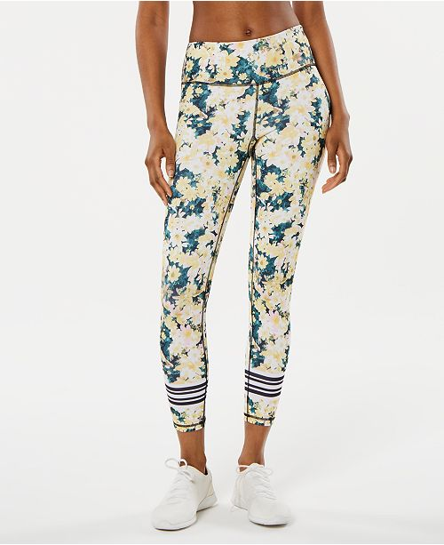 Ideology Luminous Floral Ankle Leggings, Created for Macy's