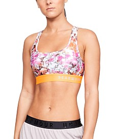 Under Armour HeatGear® Printed Cross-Back Medium-Impact Sports Bra