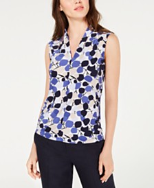 Nine West V-Neck Printed Top