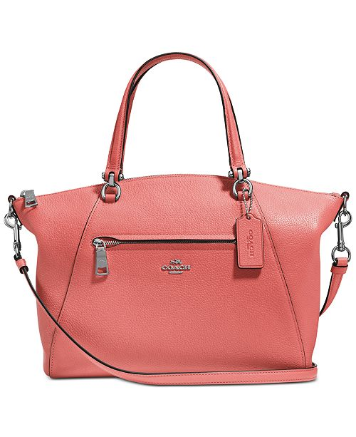 5b5042526 COACH Prairie Satchel in Pebble Leather & Reviews - Handbags ...