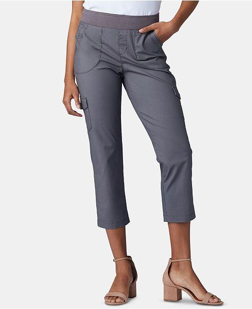 2f0664bad815d Lee Platinum Petite Pull-On Cargo Capri Pants   Reviews - Pants ...