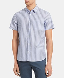 Men's Classic-Fit Space-Dyed Stripe Shirt