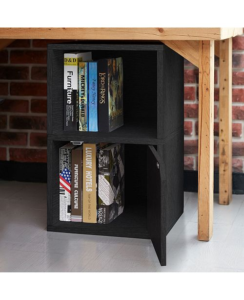 Eco Friendly Under Desk Shelf Bookcase With Door