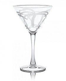 Palm Tree Martini 10Oz - Set Of 4 Glasses