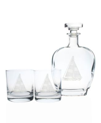 Sailboat Cooler Highball 15Oz - Set Of 4 Glasses