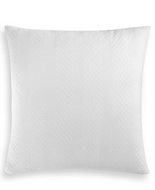 "Charter Club Damask Designs Basket Stripe Cotton 26"" x 26"" European Sham, Created for Macy's"
