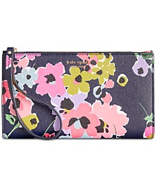 kate spade new york Sylvia Wildflower Bouquet Continental Wristlet