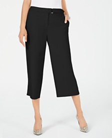 Alfani Petite Belted Culotte Pants, Created for Macy's