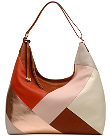 Oxleas Leather Colorblock Zip-Top Hobo