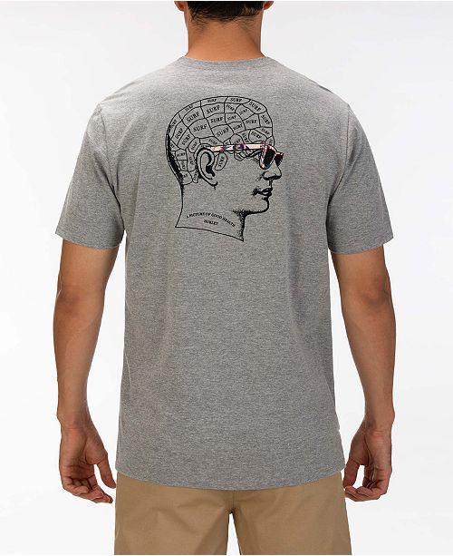 Hurley Men's The Thinker Log Graphic T-Shirt