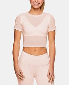 Gaiam X Jessica Biel Melrose Mesh Medium-Impact Sports Bra Cropped Top