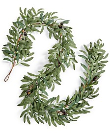 Martha Stewart Collection La Dolce Vita Olive Leaf Artificial Garland, Created for Macy's