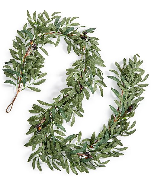 Martha Stewart Collection CLOSEOUT! La Dolce Vita Olive Leaf Artificial Garland, Created for Macy's