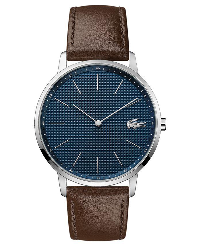 Lacoste - Men's Moon Ultra Slim Brown Leather Strap Watch 40mm