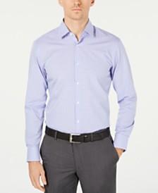 HUGO Hugo Boss Men's Slim-Fit Purple/Blue Gingham Dress Shirt