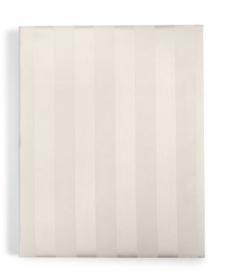 Ivory Stripe Twin Fitted Sheet, 550 Thread Count 100% Supima Cotton, Created for Macy's
