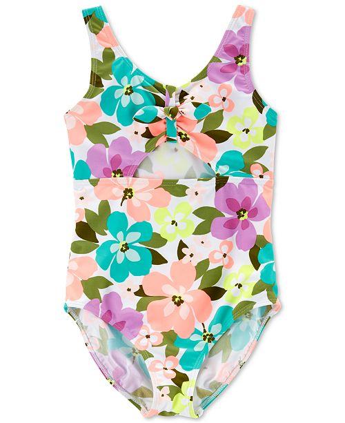 Carter's Little & Big Girls 1-Pc. Floral-Print Swimsuit