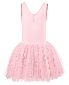 Little & Big Girls Cross-Bar Tank Leotard Dress