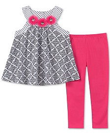 Kids Headquarters Baby Girls 2-Pc. Geo-Print Tunic & Leggings Set