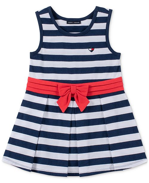 Tommy Hilfiger Baby Girls Pleated Tank Dress
