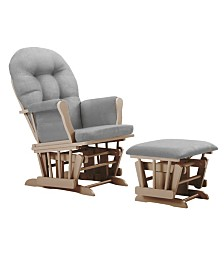 Bentley Glider and Ottoman- Natural,Light Gray