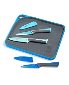 Art & Cook 7-Pc. Paring Knife Set with Cutting Board