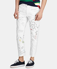 Polo Ralph Lauren Men's Tapered Fit Graphic Print Chino Pants