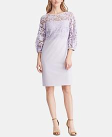 Lauren Ralph Lauren Lace-Trim Jersey Dress