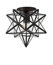 Jonathan Y Stella Moravian Star Metal/Glass LED Flush Mount