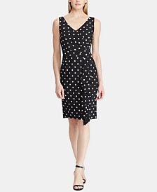 Lauren Ralph Lauren Petite Polka-Dot Dress