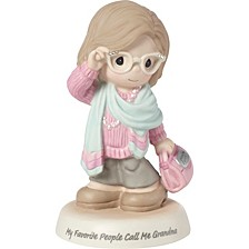 My Favorite People Call Me Grandma Bisque Porcelain Figurine 183008