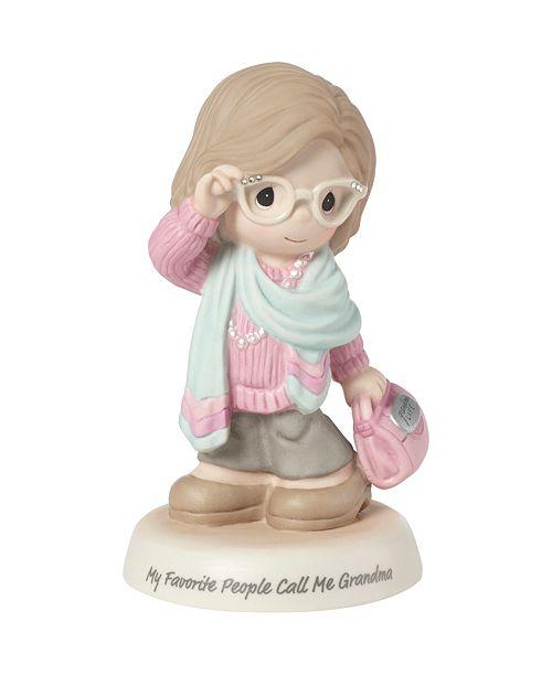 Precious Moments My Favorite People Call Me Grandma Bisque Porcelain Figurine 183008