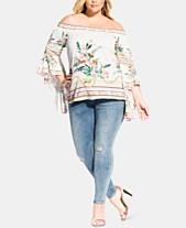 8233ecdcae94cd City Chic Plus Size Off-The-Shoulder Primavera Top