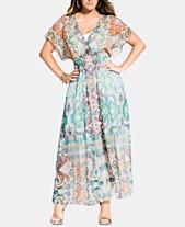 535e9a2a8378 City Chic Trendy Plus Size Casablanca Printed Kimono Maxi Dress