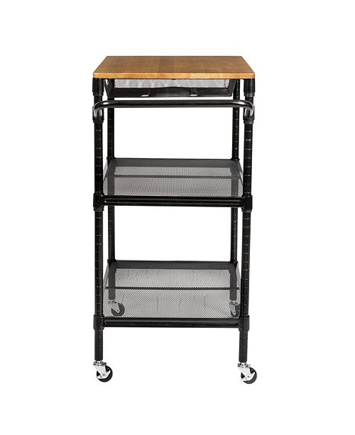 36 Kitchen Cart with Wheels, Storage Drawer and Handle