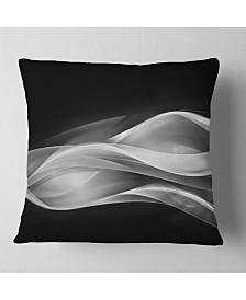 "Designart 'Glittering Silver Pattern' Abstract Throw Pillow - 26"" x 26"""