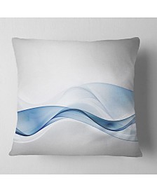 "Designart '3D Wave of Water Splash' Abstract Throw Pillow - 16"" x 16"""