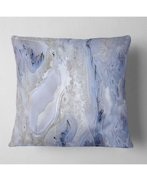"Design Art Designart 'Agate Stone Background' Abstract Throw Pillow - 16"" x 16"""