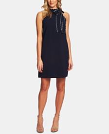 CeCe Scallop-Trim Shift Dress