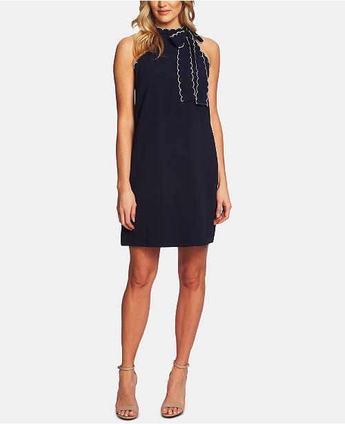 d4b8dfd400195a CeCe Scallop-Trim Shift Dress & Reviews - Dresses - Women - Macy's