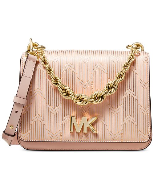 e9c22faac31b Michael Kors Mott Metallic Deco Chain Swing Shoulder Bag   Reviews ...