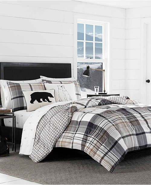 Eddie Bauer Normandy Plaid Comforter Set, Full/Queen