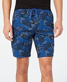 Men's Camo Drawstring Cargo Shorts, Created for Macy's
