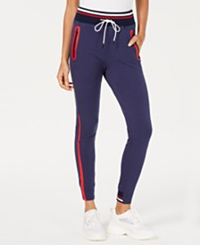 La La Anthony Colorblocked Slim Jogger Pants