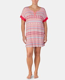 Ellen Tracy Printed Tunic Sleepshirt