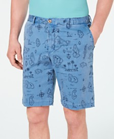 "Tommy Bahama Men's Tahiti Treasure Stretch Map-Print 10"" Shorts"