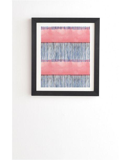 Deny Designs Minimal stripes pink Framed Wall Art
